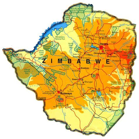 printable map of zimbabwe in africa 302 found