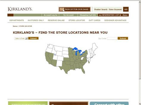 Kirkland Home Decor Store Locations Search Kirkland S Store Locations Using Store Locator At Www Kirklands Letmeget