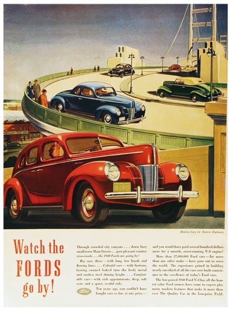vintage advertising posters of cars and trucks vintage