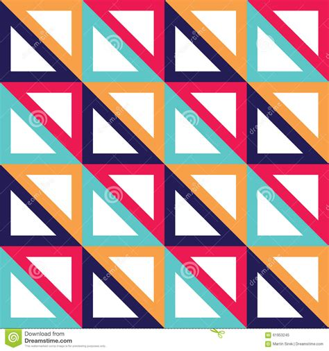 triangle color pattern vector vector modern seamless colorful geometry triangle pattern