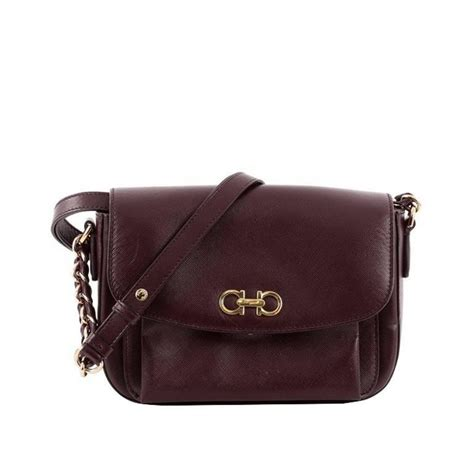 Salvatore Feragamo 2in1 3128 salvatore ferragamo sandrine shoulder bag leather at 1stdibs