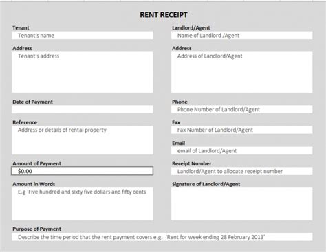 Excel Template For Rent Receipt by 50 Free Receipt Templates Sales Donation Taxi