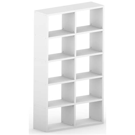 modular 10 wide cube white 1168l x 1808h x 328d mastershelf