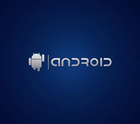 android logo blue wallpapersc smartphone