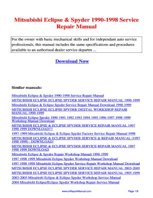 service manual 1990 mitsubishi eclipse free manual download service manual 1996 eagle talon eclipse 98 gsx owners manual fill online printable fillable blank pdffiller