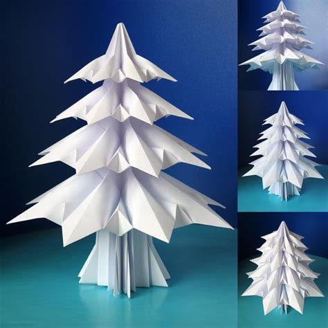 holiday project origami christmas trees 171 math craft