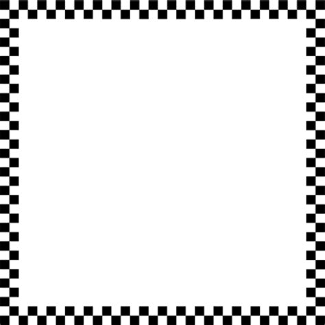 checkerboard business card border templates checkerboard border clipart best