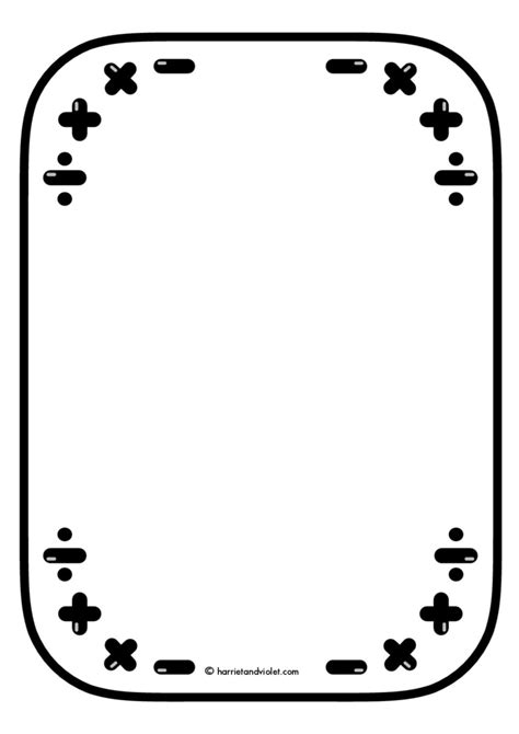 math clipart black and white math clip border black and white