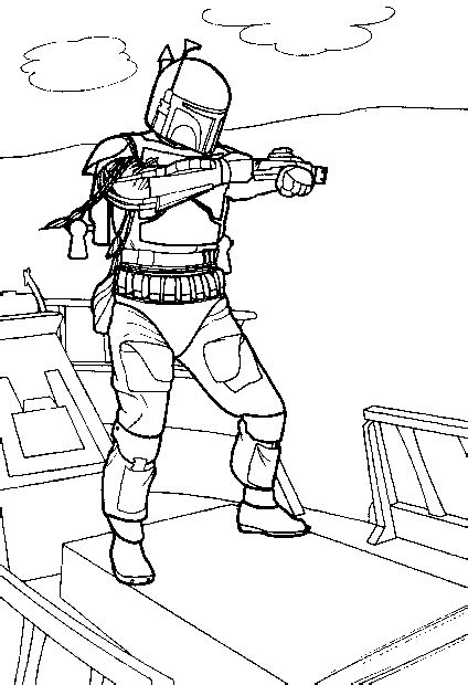 jango fett coloring pages coloring pages to print