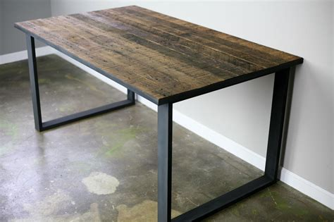 wood and steel desk combine 9 industrial furniture dining desk