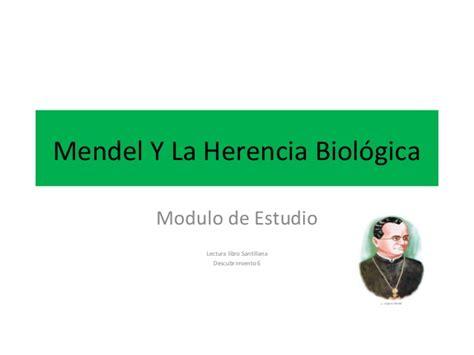 libro la herencia viva de mendel y la herencia biol 243 gica