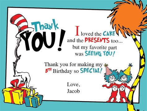Dr Seuss Birthday Thank You Cards dr seuss birthday thank you cards blackline