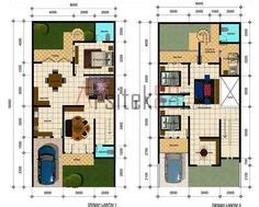 layout denah laundry 1 kanal house drawing floor plans layout with basement