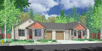 Apartments Over Garages Floor Plan one level duplex house plans corner lot duplex plans