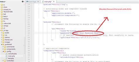 membuat crud di yii framework dengan gii membuat crud pada yii framework menggunakan gii artcode