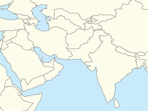 blank map of south asia blank map of southwest asia grahamdennis me