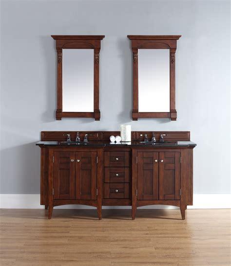 72 inch sink bathroom vanity in warm cherry
