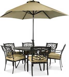 Patio Table And 6 Chairs Wentley Patio Furniture Outdoor 7 Set 6 Dining Chairs And 60 Quot Table Shopstyle