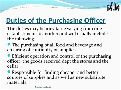 Procurement Officer by Purchasing Officer Description 17 Fields Related To