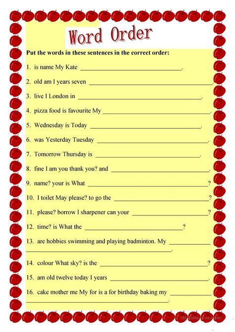 sentence patterns classroom games improving sentence structure worksheets worksheets