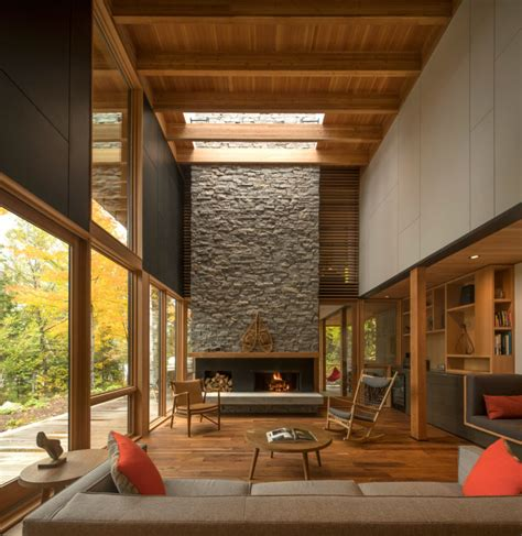 design milk toronto a luxury wooded lakeside retreat northeast of toronto