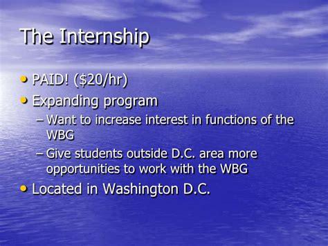 world bank internship world bank internship presentation