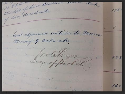Desoto County Ms Court Records Signature Of Judge C Pryor From Desoto Co Ms Tennessee Pryors