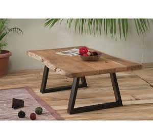 table basse naturel m 233 tal et bois zen