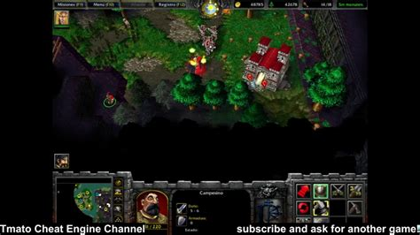 warcraft iii reign  chaos immortal enemy hp  infinite gold wood food tmato cheat engine
