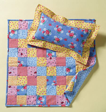 Bed Quilt Patterns by 18 Inch Doll Bed Mini Quilts One Size Haberdashery