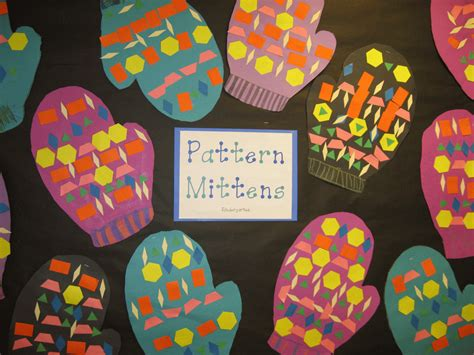mitten pattern art project image gallery kindergarten winter art projects
