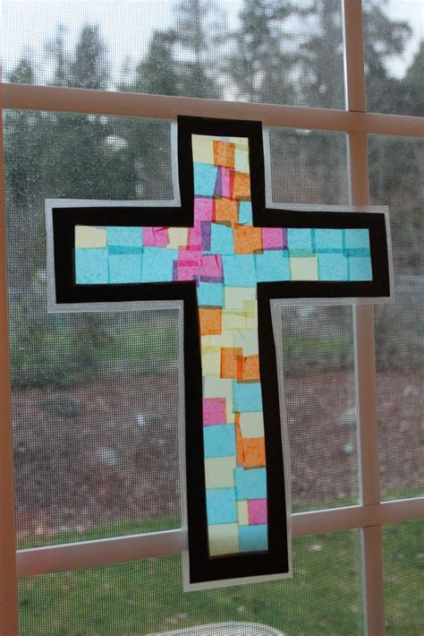 stained glass crafts for frills fluff and trucks stained glass cross craft tutorial