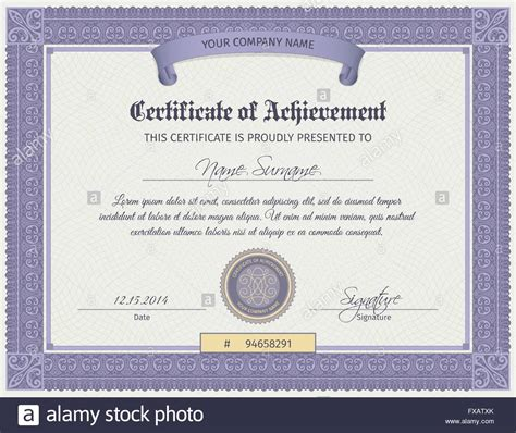 qualification certificate template qualification certificate template stock vector