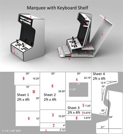 bartop mame cabinet plans mf cabinets