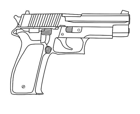 Toy Gun Coloring Page | gun coloring pages the hand gun machine gun etc