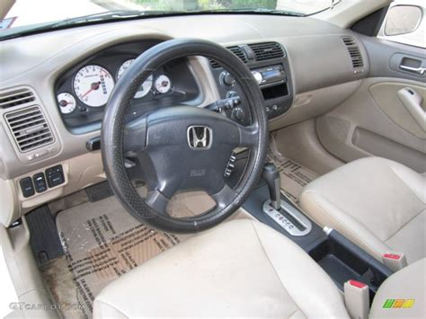 Civic Interior by Beige Interior 2002 Honda Civic Ex Sedan Photo 63614785