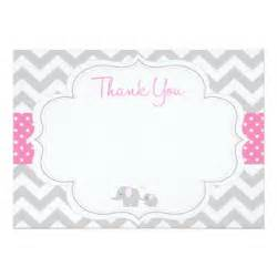 thank you card template for baby shower chevron elephant baby shower thank you card
