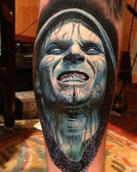 small scary tattoos collection of 25 3d blue scary horror