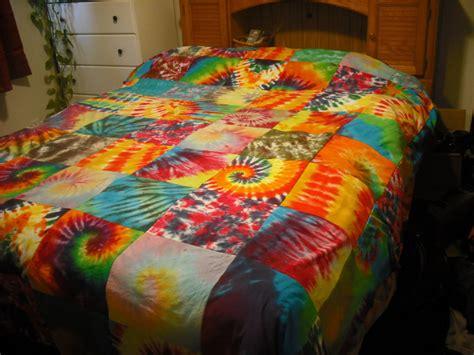 Patchwork Blankets - tie dye patchwork blanket