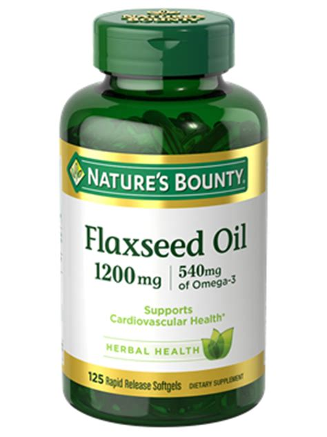 Flaseed Natures Bounty flaxseed 1 200 mg 125 rapid release softgels nature s bounty be your healthy best