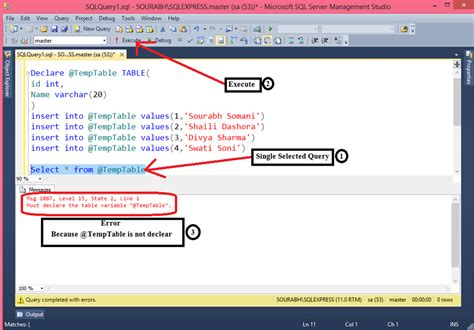 Sql Declare Table Variable by Table Variable In Sql Server