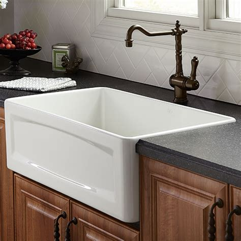 Designer Kitchens Magazine - kitchen farm sink hillside 30 inch wide apron kitchen sink from dxv