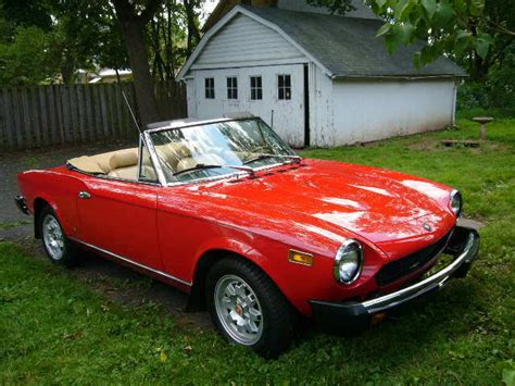 fiat spider 1978 1978 fiat 124 spider convertible condition