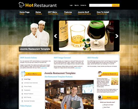 joomla restaurant template hot restaurant
