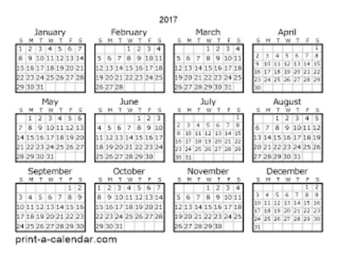 printable calendar 2017 legal size download 2017 printable calendars