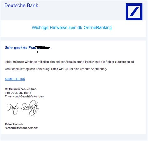 deutsche bank privat kredit phishing mail alerts juli 2014