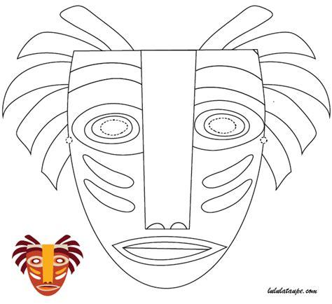 masque africain 224 imprimer et 224 d 233 couper lulu la taupe jeux gratuits pour enfants