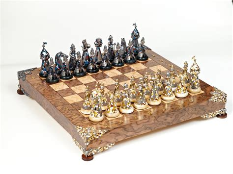 designer chess sets kovalyk silver chess art chess house