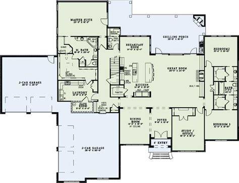 European House Plan   3 Bedrooms, 3 Bath, 4076 Sq Ft Plan