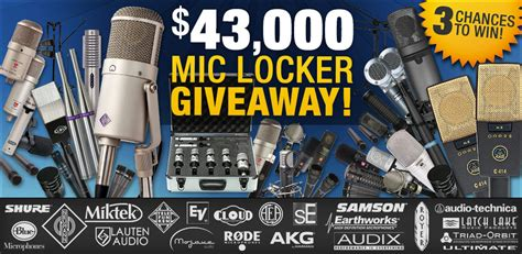 Sweetwater Sweepstakes - 43 000 mic locker giveaway and more